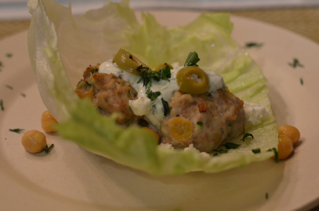 Mediterranean Lettuce Wraps with Cucumber Dill Sauce